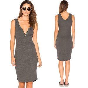L'agence Ribbed Henley Dress